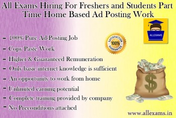 Home based online part time ad posting jobs for retired persons